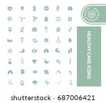 health care icon set vector | Shutterstock .eps vector #687006421