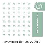 calendar icon set vector | Shutterstock .eps vector #687006457