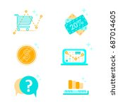 web design icons business ... | Shutterstock .eps vector #687014605