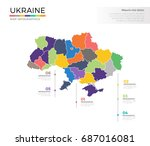 ukraine country map infographic ... | Shutterstock .eps vector #687016081