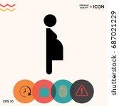 pregnant woman icon | Shutterstock .eps vector #687021229