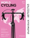 cycling poster vector... | Shutterstock .eps vector #687022765