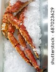Small photo of pre-cooked Alaskan king crab legs