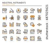industrial instruments   thin... | Shutterstock .eps vector #687025621