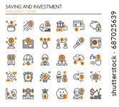 saving and investment   thin... | Shutterstock .eps vector #687025639