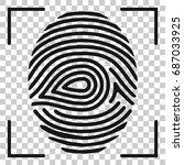 fingerprint scan icon isolated... | Shutterstock .eps vector #687033925