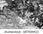 black and white  abstract... | Shutterstock . vector #687034411
