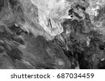 black and white  abstract... | Shutterstock . vector #687034459