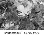 black and white  abstract... | Shutterstock . vector #687035971