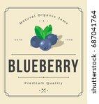 colorful blueberry jam... | Shutterstock .eps vector #687041764