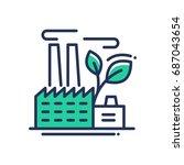 ecology   modern single line... | Shutterstock . vector #687043654