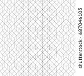 vector seamless pattern. modern ... | Shutterstock .eps vector #687046105