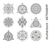 sacred geometry forms | Shutterstock .eps vector #687046849
