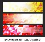 a set design of abstract modern ... | Shutterstock .eps vector #687048859