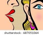 retro pop art style comic style ... | Shutterstock .eps vector #687051064