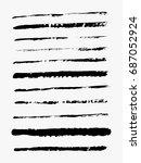 set of grunge brush strokes | Shutterstock .eps vector #687052924