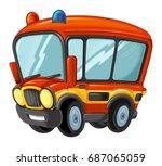 cartoon funny looking cartoon... | Shutterstock . vector #687065059