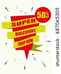 flat design vector marketing... | Shutterstock .eps vector #687065305