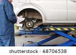 Auto repair shop. - stock photo
