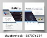 business templates for brochure ... | Shutterstock .eps vector #687076189