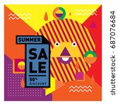 summer sale memphis style web...   Shutterstock .eps vector #687076684
