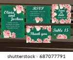 vintage wedding invitation... | Shutterstock .eps vector #687077791