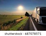 truck transportation | Shutterstock . vector #687078571