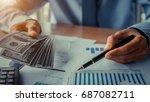 businessman with money in hand  ...   Shutterstock . vector #687082711