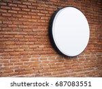 signboard shop mock up logo...   Shutterstock . vector #687083551
