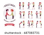 ready to use character set.... | Shutterstock .eps vector #687083731