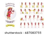 ready to use character set.... | Shutterstock .eps vector #687083755