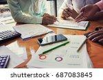 administrator business man...   Shutterstock . vector #687083845