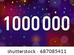 congratulations 1kk followers ... | Shutterstock .eps vector #687085411