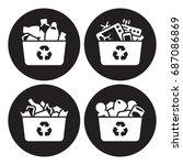 recycling of glass  plastic ...   Shutterstock .eps vector #687086869