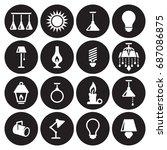 light icons set | Shutterstock .eps vector #687086875