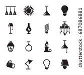 light icons set | Shutterstock .eps vector #687086881