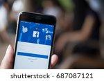 chiang mai  thailand   july 30  ... | Shutterstock . vector #687087121