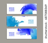 vector banner shapes collection ... | Shutterstock .eps vector #687088369