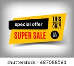 50  off sale banner design.... | Shutterstock .eps vector #687088561