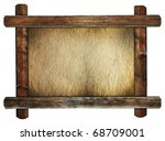 Old Wooden Frame With Dirty...