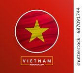 vietnam independence day waving ... | Shutterstock .eps vector #687091744