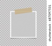 photo frame on a isolated...   Shutterstock .eps vector #687097531
