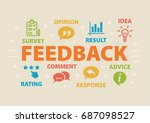 feedback. concept with icons... | Shutterstock .eps vector #687098527