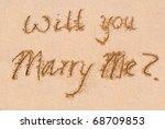 """will you marry me ""   written... | Shutterstock . vector #68709853"