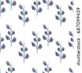floral seamless pattern with... | Shutterstock .eps vector #687099439