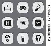 set of 9 editable hospital...