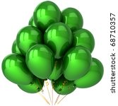 Party Balloons Green Birthday...