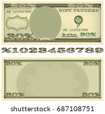 based on the dollar banknote... | Shutterstock . vector #687108751