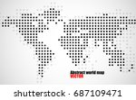 abstract world map of dots on... | Shutterstock .eps vector #687109471