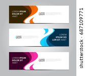 vector abstract design banner... | Shutterstock .eps vector #687109771